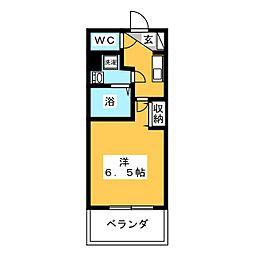 PRIME NEXUS 京急鶴見 7階1Kの間取り