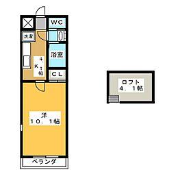 サンフェスタ川島[2階]の間取り