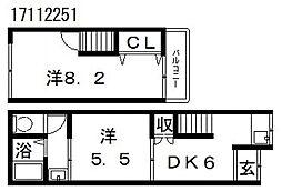 沢之町リノベ借家[1階]の間取り