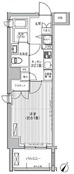 BAUHINIA AKASAKA 2階1Kの間取り