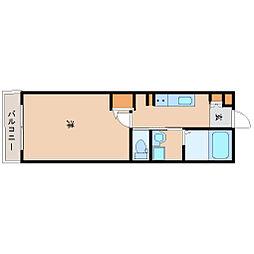 阪神本線 尼崎駅 徒歩8分の賃貸マンション 10階1Kの間取り