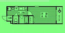 東京都墨田区向島の賃貸マンションの間取り