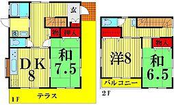 [一戸建] 埼玉県越谷市南荻島 の賃貸【/】の間取り