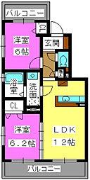 カームガーデン寺塚[3階]の間取り