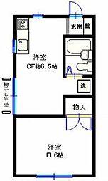 田代荘[202号室]の間取り