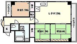 兵庫県芦屋市松ノ内町の賃貸マンションの間取り