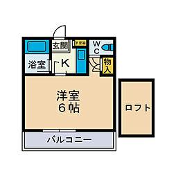 サンハイム成田[1階]の間取り