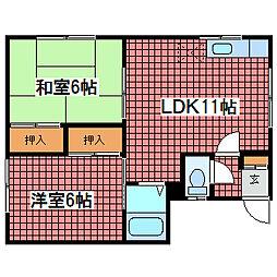 第2コーポ嶋村[3階]の間取り