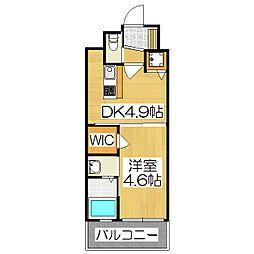 アクアプレイス京都西院[408号室]の間取り
