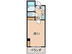 ドウエル7・2・10[1階]の間取り