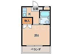 フリューゲル21[4階]の間取り