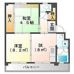 多聞台団地[3階]の間取り
