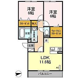 仮)D-room戸田[202号室]の間取り