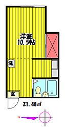 ハイツSAM[203号室]の間取り