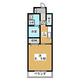 プラナス桜[3階]の間取り