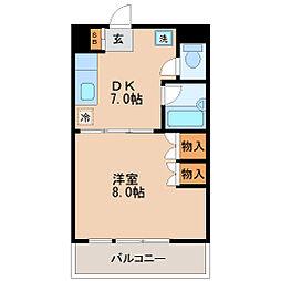 小田原深松マンション[3階]の間取り