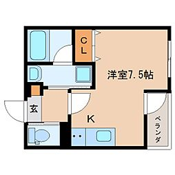 静岡県静岡市葵区横内町の賃貸マンションの間取り