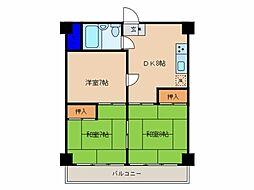 永島第二ビル[505号室]の間取り