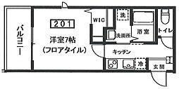 東急池上線 荏原中延駅 徒歩2分の賃貸アパート 2階1Kの間取り