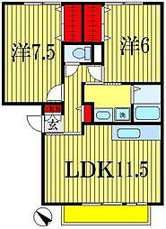 パークサイド西船A・B[2階]の間取り