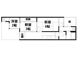 紫竹下本町貸家[1階]の間取り