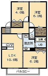 (新築)アルモニー A棟[101号室]の間取り
