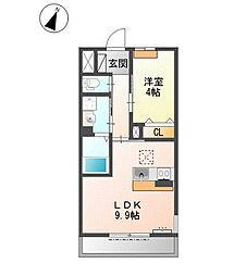 兵庫県三木市末広2丁目の賃貸アパートの間取り