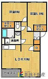 リバティI[1階]の間取り