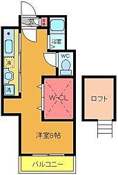 サンワ21[3階]の間取り