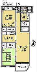 草夢(そうむ)[304号室]の間取り