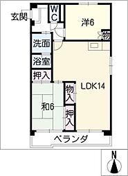 ハイツ小幡[3階]の間取り