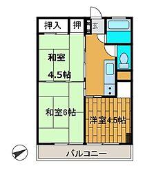 新原町田マンション[5階]の間取り