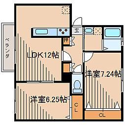 ウィンステージA[2階]の間取り