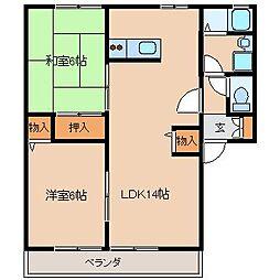 ローゼヒダカA棟[2階]の間取り