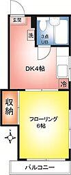 ハイツ斉藤[101号室]の間取り