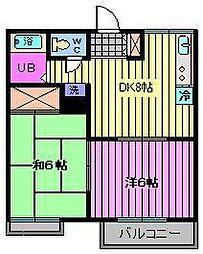 神田グリーンハイツ[105号室]の間取り