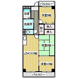 愛知県名古屋市中川区昭和橋通6丁目の賃貸アパートの間取り