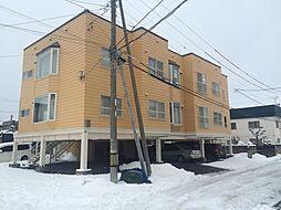北海道札幌市南区川沿十七条2丁目の賃貸アパートの外観