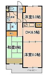 モンシャトー松戸[204号室]の間取り