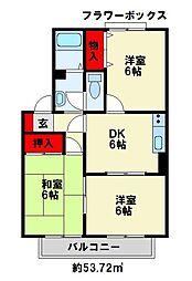 セジュールKC棟[2階]の間取り