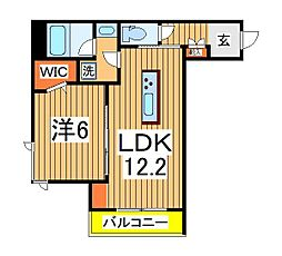 仮)柏の葉キャンパスシャーメゾン 2階1LDKの間取り
