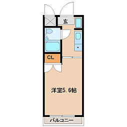 兵庫県尼崎市東園田町9丁目の賃貸マンションの間取り