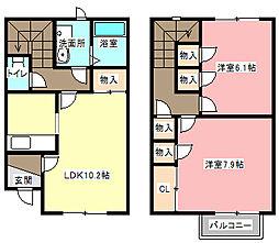 [テラスハウス] 静岡県浜松市浜北区染地台3丁目 の賃貸【/】の間取り