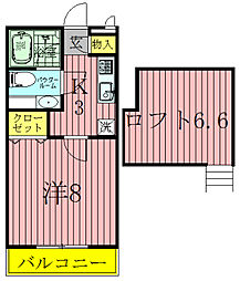 サンヴィアーレA[1階]の間取り