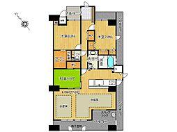3LDK、専有面積116.09平米、バルコニー面積34.5平米