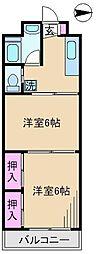 堀船コーポ[2階]の間取り