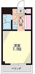 埼玉県新座市北野2丁目の賃貸マンションの間取り