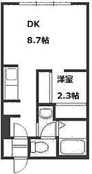プラティーク札幌[3階]の間取り