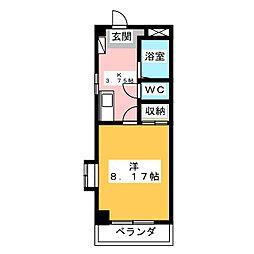 エアロスペース鶴田[4階]の間取り