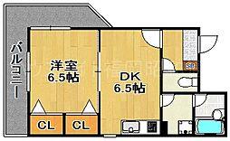 福岡県福岡市中央区大宮2丁目の賃貸マンションの間取り